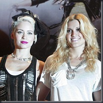 Kimberly Wyatt and Ashley Roberts, PA