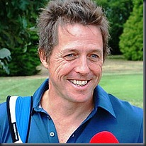 Hugh Grant at the 2010 Leuka Mini Masters golf tournament