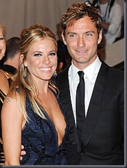 Sienna Miller and Jude Law, PA
