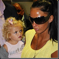 Katie Price and daughter Princess, PA