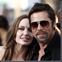 Angelina Jolie and Brad Pitt © PA