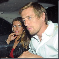 Abbey Clancy and Peter Crouch, REX