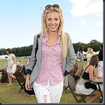 Mollie King of The Saturdays at the celebrity polo match, sponsored by Mahiki Rum