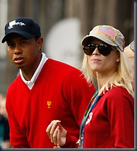 Tiger Woods and Elin Nordegren (PA)