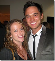 Gareth Gates and I at the launch party