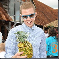Professor Green enjoying some wonderful Mahiki Rum cocktails at the Mahiki Rum Pop Up Bar AfterParty at the World Class Polo Match sponsored by Mahiki Rum which was held at Hurtwood Park on Saturday 17th July.